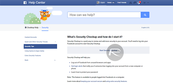Facebook Securtiy Checkup 12