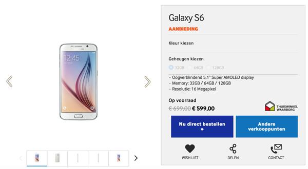 Samsung Galaxy s6 price drop