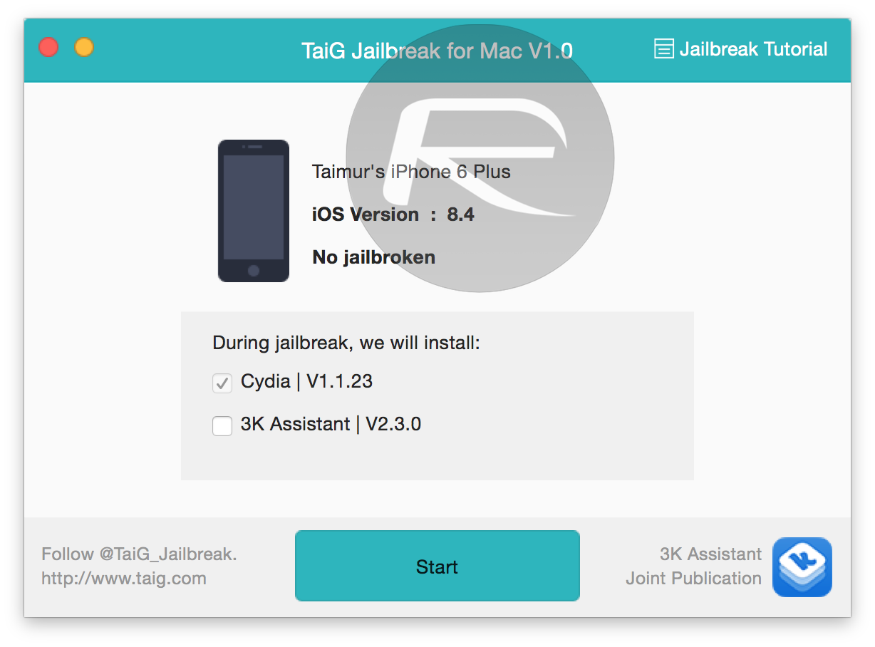 TaiG Jailbreak iOS 8.4 Mac