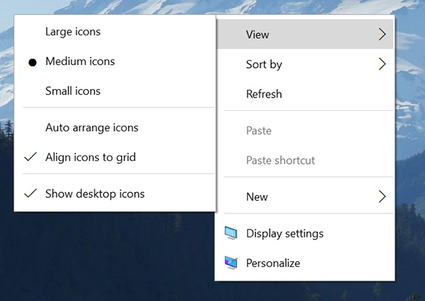 Windows 10 new-Context-Menus
