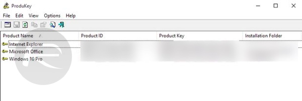 Windows 10 product key ProduKey