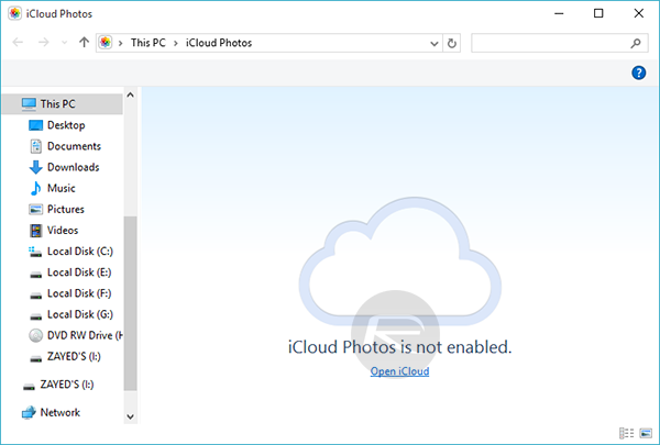 Enable And Sync iCloud Photos In Windows 10, Here's How