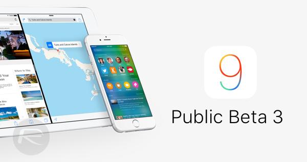ios 9 public beta 3 main