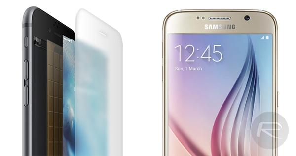 Galaxy-S6-iPhone-6s-displays