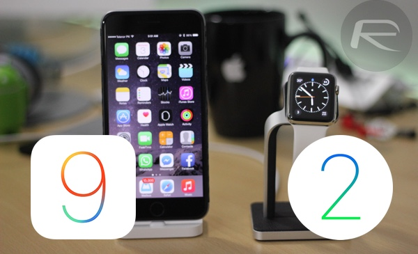 iOS 9 and watchOS 2 main