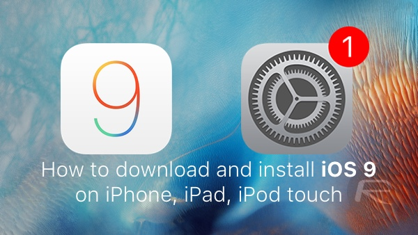 iOS 9 download install main