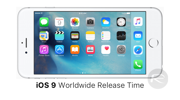iOS 9 release time main