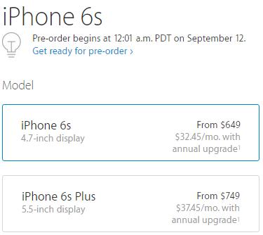 iPhone 6s pre-orders