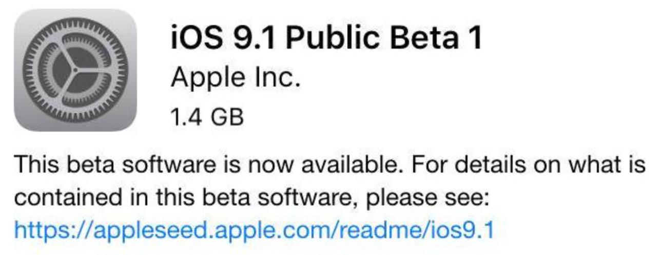 ios 9.1 beta 1 public