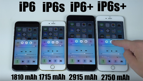 compare iphone 6 and 6s battery test iphone 6s plus vs iphone 6 plus 1891