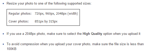 How to upload photos on facebook in high quality
