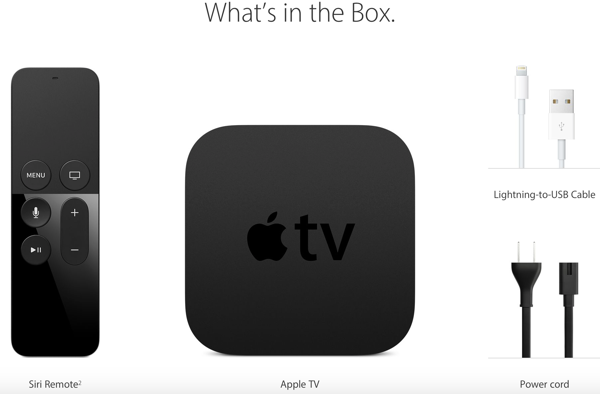 Apple TV 4 box details