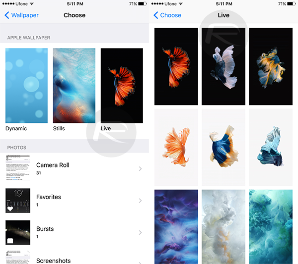 enable iphone 6s 6s plus live wallpapers on iphone 6 6 plus
