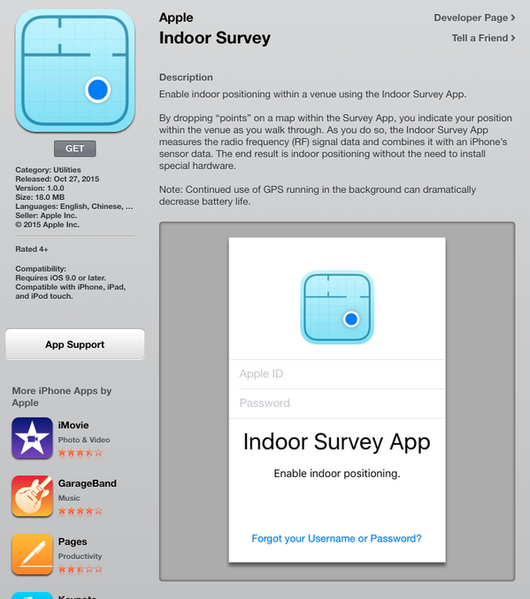 Indoor Survey by Apple