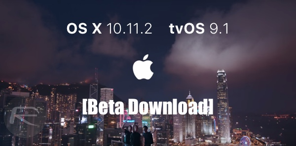 OS X 10.11 tvOS beta main