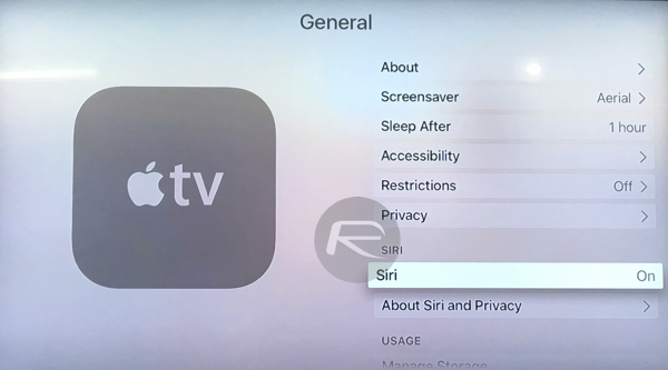Siri Apple TV 4