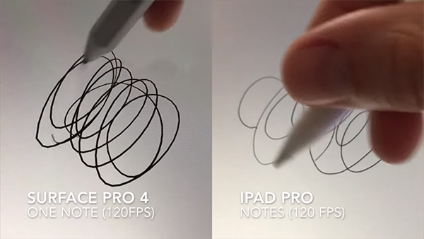 apple pencil vs surface pen stylus response time comparison  video