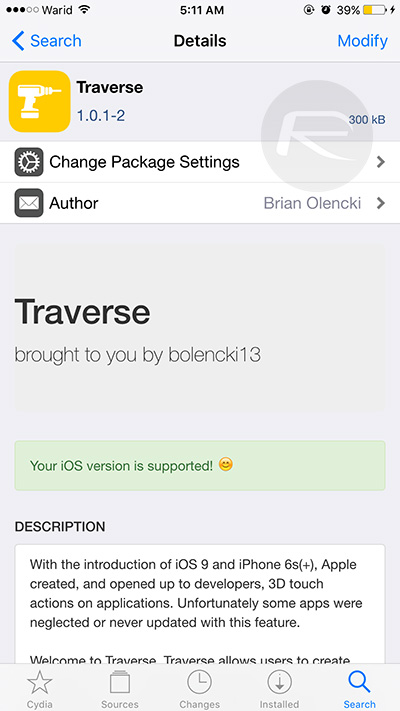 Traverse-Cydia-tweak-iOS-9