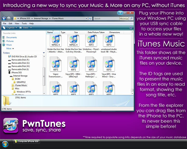 PwnTunes For iOS 9 Released: Copy Files On iPhone To And