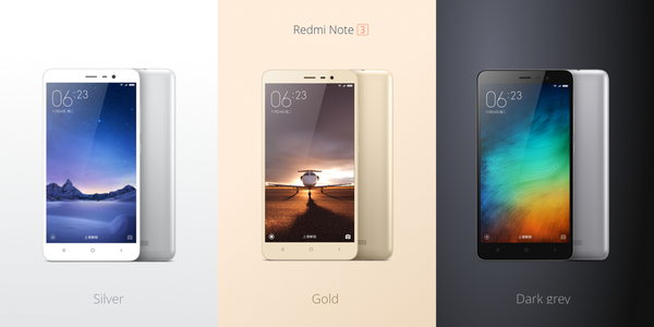 redmi note 3 colors