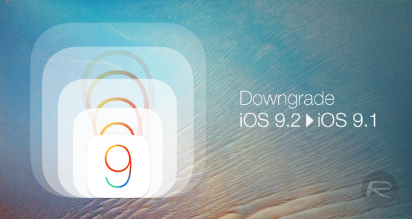 Downgrade-iOS-9.2-9.1