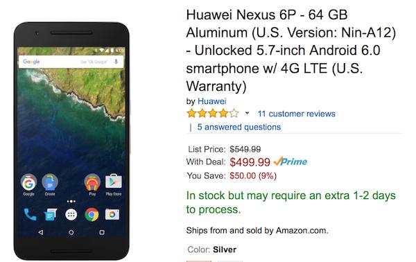 Nexus 6P discount