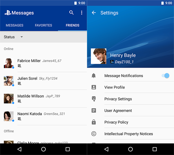 PlayStation-Messages-Android