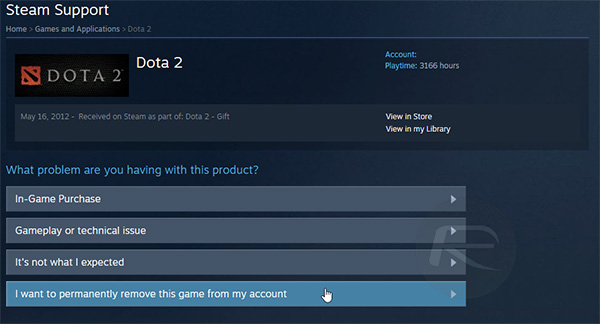 Steam-Support-delete-game