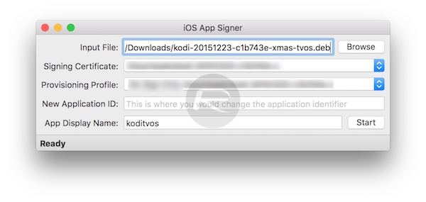 iOS App Signer Kodi Apple TV