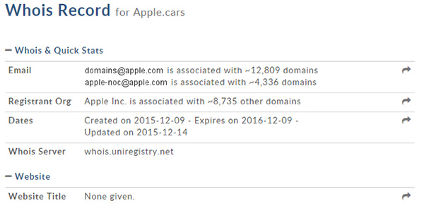 Apple.cars-domain