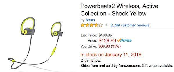 Powerbeats 2 deal