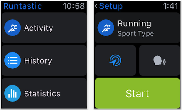 Runtastic watchOS