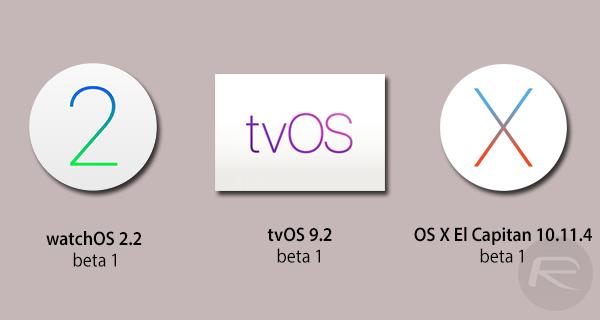 betas-OS-X-El-Capitan-watchos-2.2-tvos-9.2