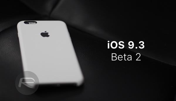 iOS 9.3 beta 2 main