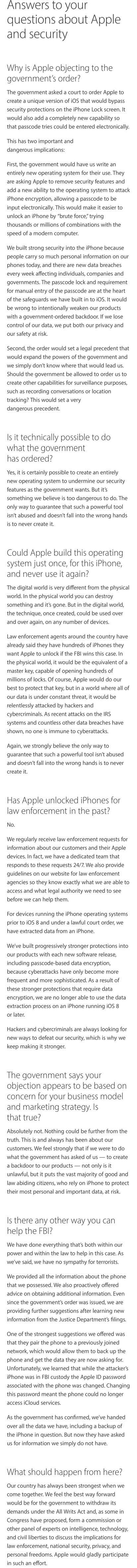 Apple FAQ