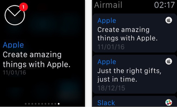 Apple Watch Airmail