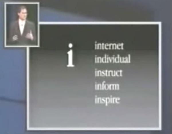 Jobs slide iMac
