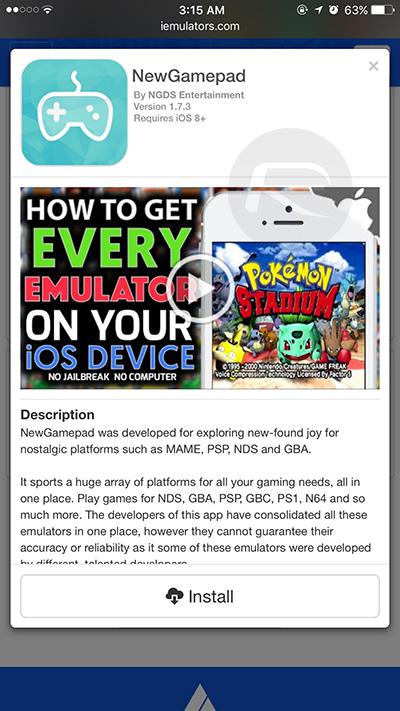 NewGamepad Emulator For iOS Plays N64, PS1, GBA, PSP, SNES, NDS