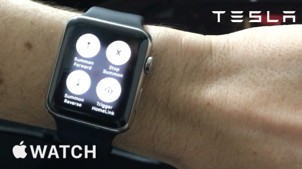 Tesla Summon Apple Watch