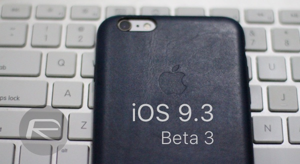 iOS 9.3 beta 3 main