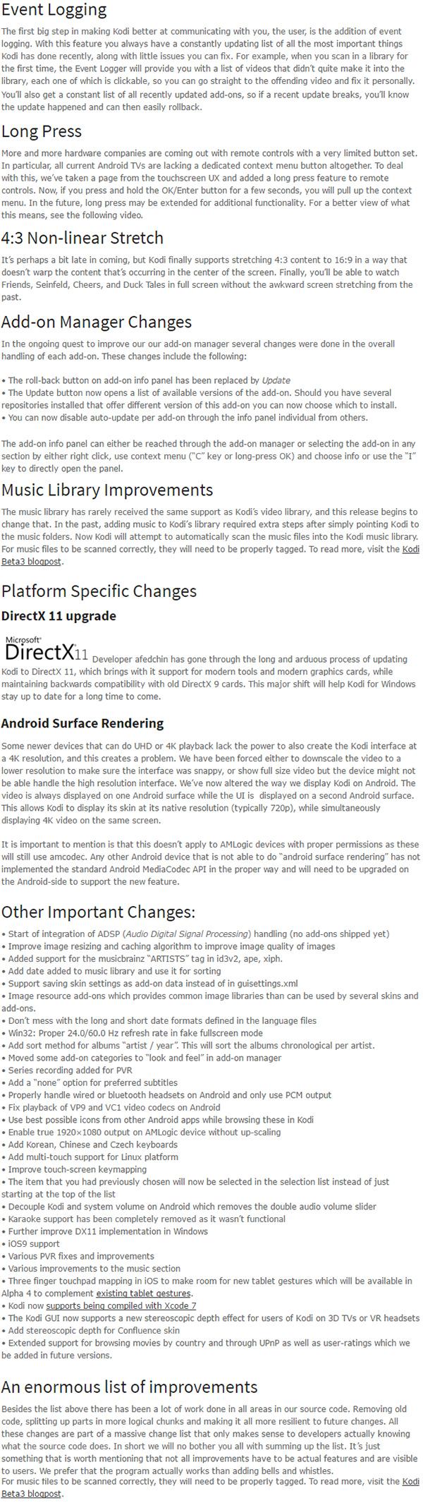 kodi-16.0-changelog