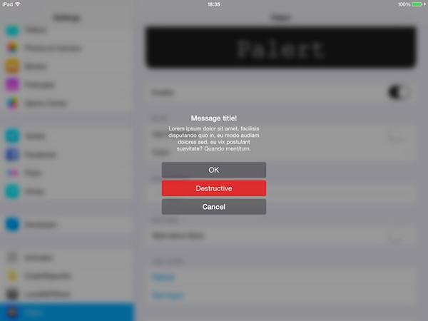 Palert-iPad
