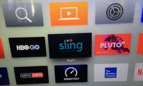 Sling TV app Apple TV 4