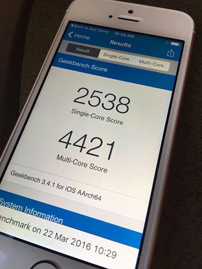 iPhone-SE-Geekbench-score