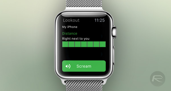 Lookout App For Apple Watch Buzzes Your Wrist When You Leave Your iPhone Behind | Redmond Pie