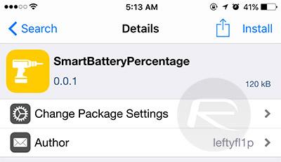 SmartBatteryPercentage