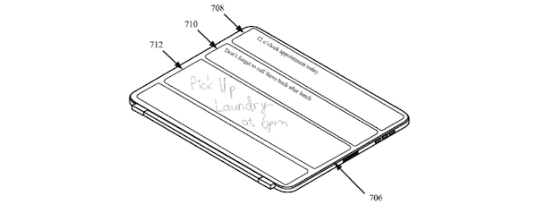 iPad smart cover patent writing