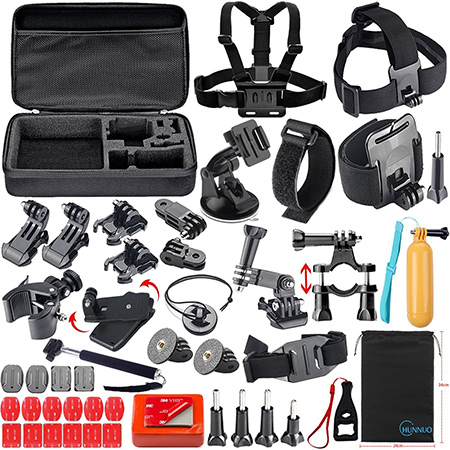 CHUNNUO-Outdoor-Sport-Camera-Accessories-Bundle-Kit