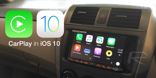 CarPlay iOS 10 main