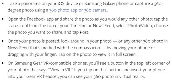 Facebook 360 photo